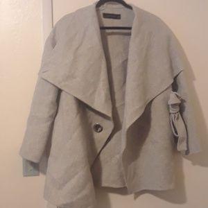 Zara like new gray overcoat